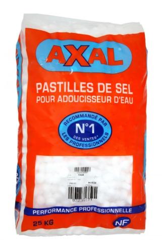 Sac de Pastilles de Sel pour Adoucisseur d'eau Axal - 25Kg