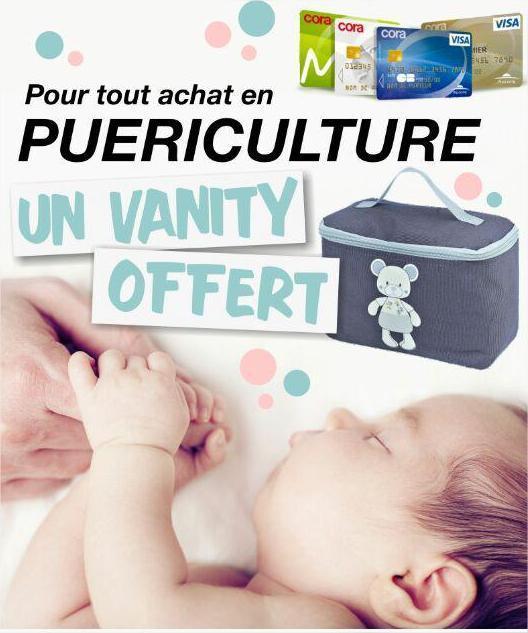 Une vanity offerte pour tout achat en puériculture