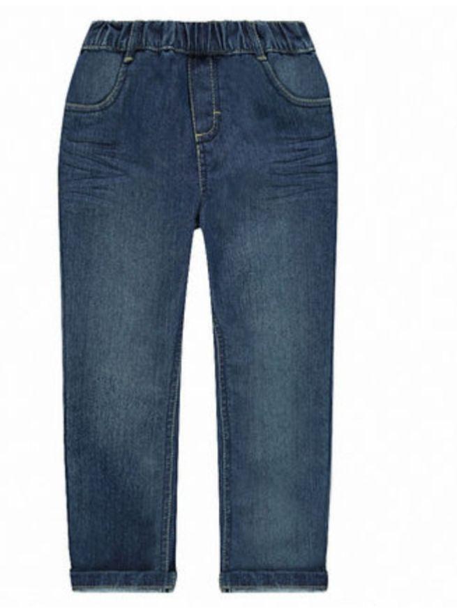 [Club Orchestra] Jeans coupe droite effet délavé à taille élastiquée (différentes tailles)