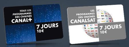 Carte prépayée canal + ou canal sat-50%