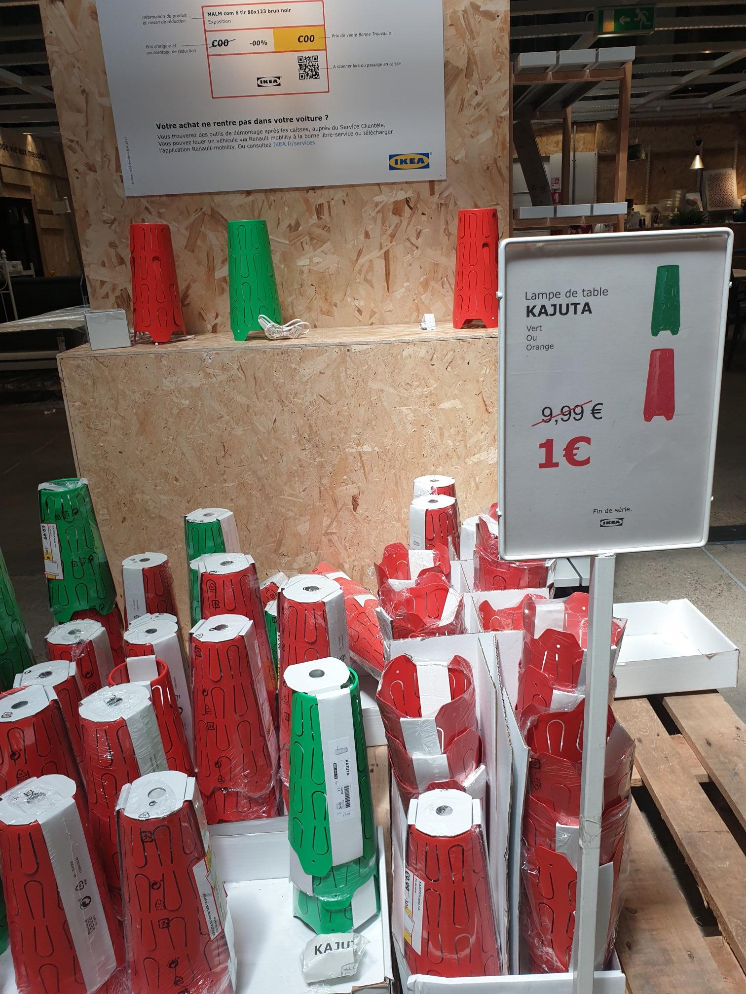 Lampe de table Ikea Kajuta (Rouge ou vert) - Saint-Priest (69)
