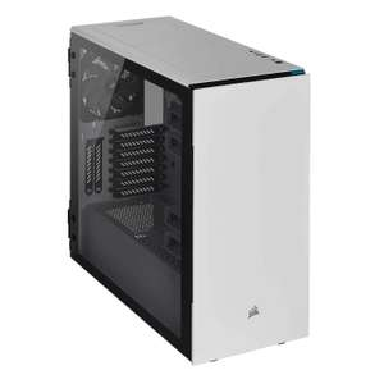 Boîtier PC Corsair Carbide Series 678C, Silencieux en Verre Trempé ATX - Blanc
