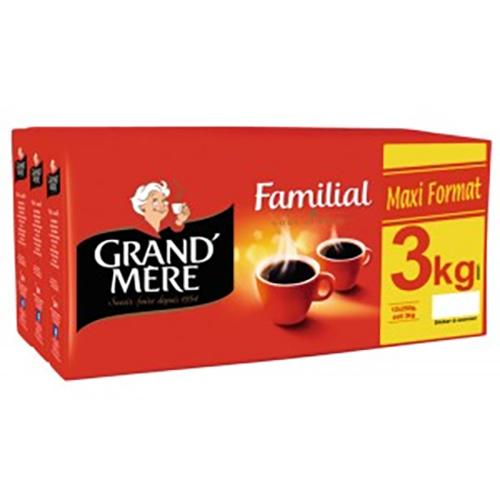 Lot de 3 paquets de café moulu Grand'Mère - 3Kg