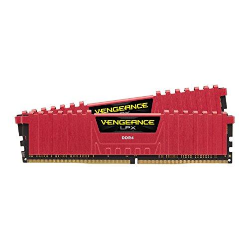 Kit mémoire RAM Corsair Vengeance LPX - 16Go (2x8Go), DDR4, 3200MHz, C16, XMP 2.0 (Rouge)