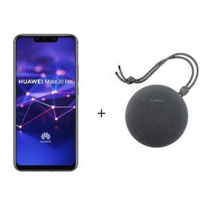 "[CDAV] Pack smartphone 6.3"" Huawei Mate 20 Lite (full HD+, Kirin 710, 4 Go de RAM, 64 Go, noir ou or) + enceinte Bluetooth Huawei CM51"