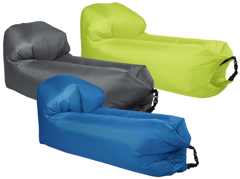 Sofa gonflable Crivit AirLounge - différents coloris / formes