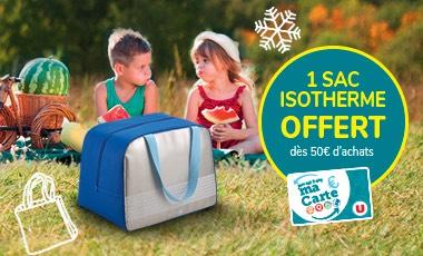 [Carte U] 1 Sac Isotherme Offert dès 50€ d'achat - Hors Exceptions