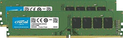 Kit mémoire Ram DDR4 Crucial 16 Go (2x8 Go) 3200 MHz