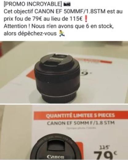 Objectif Canon 50mm 1.8 - Villeneuve-d'Ascq (59)