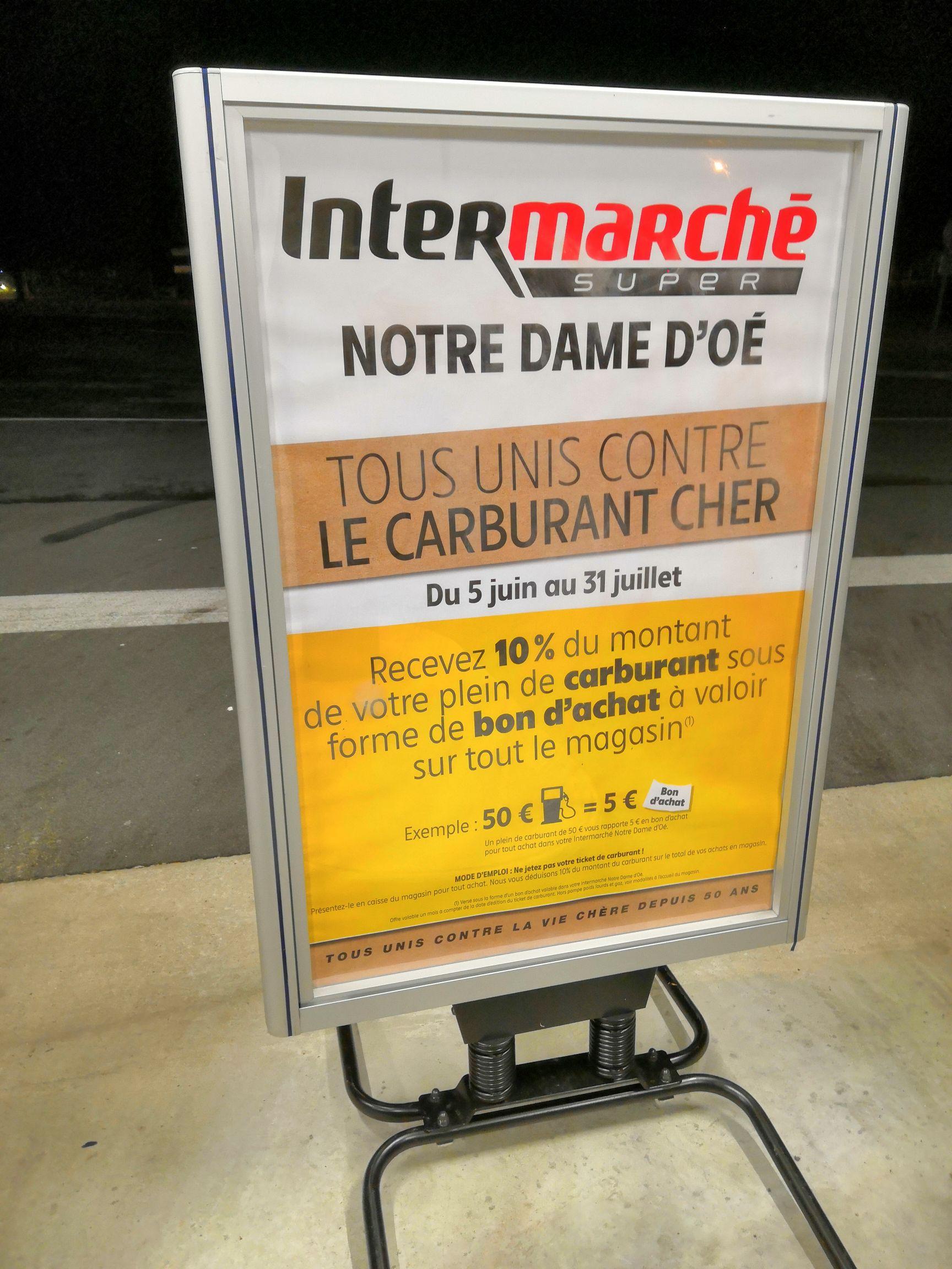Carburant, 10% remboursés en bon d'achat - Notre-Dame-d'Oé (37)