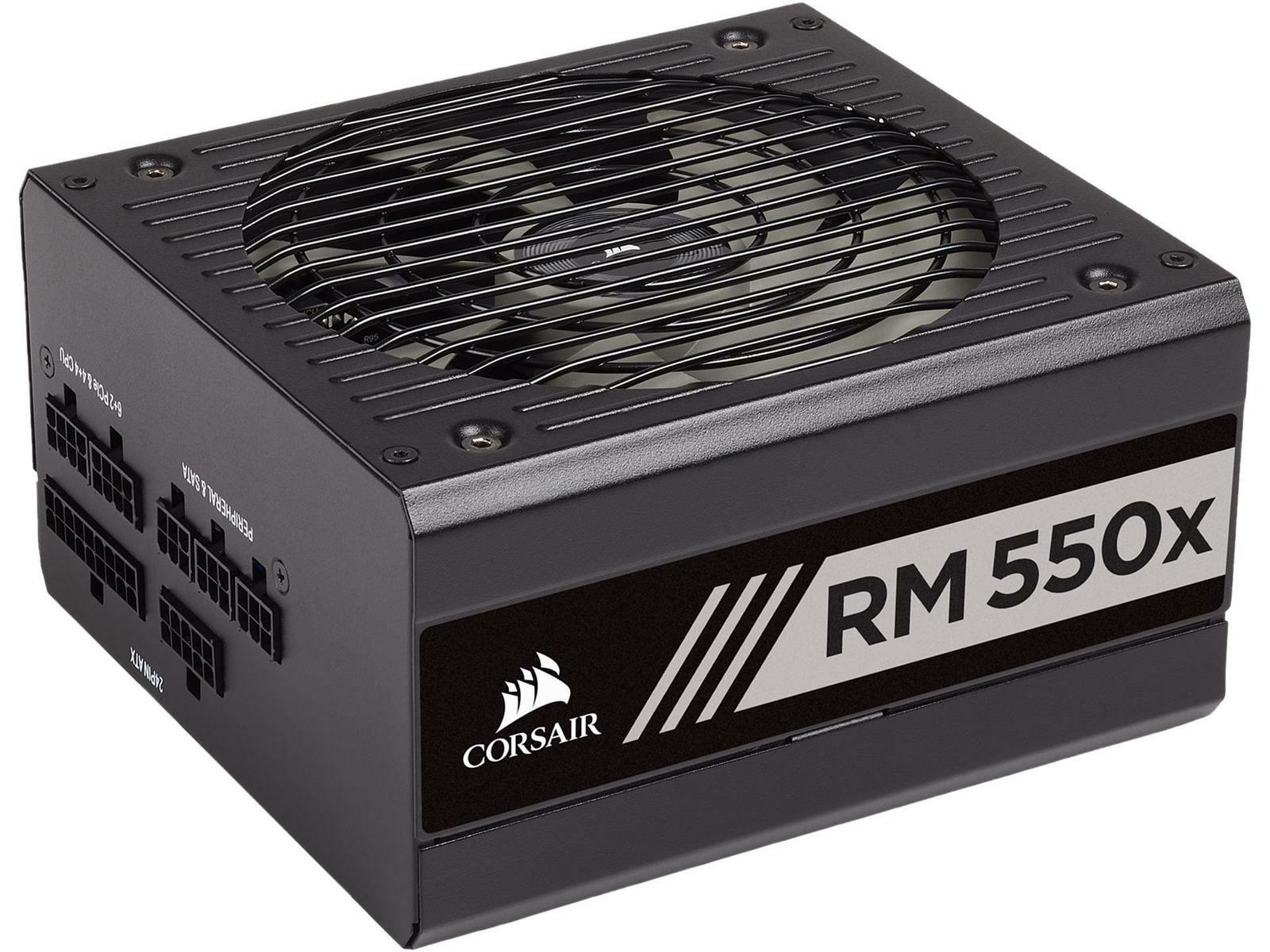 Alimentation PC modulaire Corsair RM550x - 550 Watt, 80 PLUS Gold, Noir