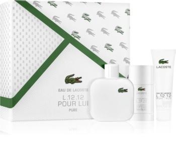 Coffret Eau de toilette Lacoste L.12.12 - Blanc (Eau de toilette 100 ml + déodorant stick 75 ml + gel de douche 50 ml)