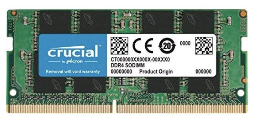 Mémoire RAM Crucial CT8G4SFS8266 - 8Go (DDR4, 2666 MT/s, PC4-21300, SR x8, SODIMM, 260-Pin)