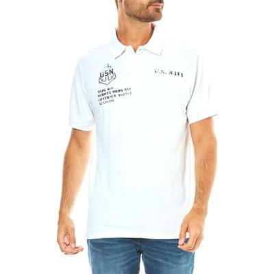 Sélection de Polos Schott en promotion - Ex: Polo à manches courtes Schott - Blanc (Tailles S)