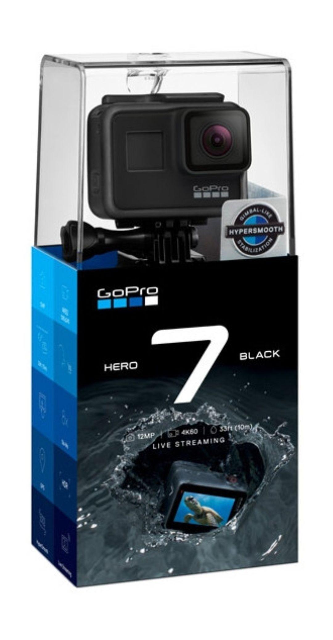 Caméra sportive GoPro Hero7 Black (+ 29.80€ en SuperPoints)