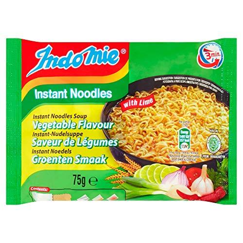 Nouilles instantanées Indomie Instant Noodles Saveur Végétale au citron vert, paquet de 40 (40 x 75 g)