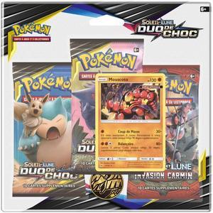 Pack 3 boosters de cartes Pokemon Soleil et Lune 9 - Duo de choc SL09