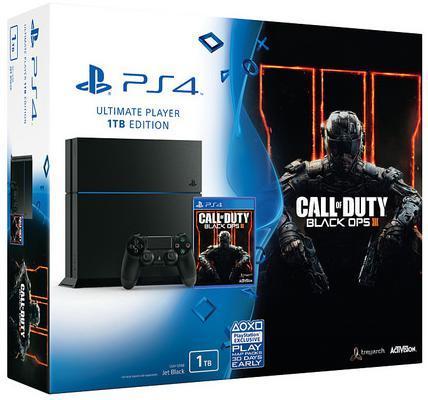 Pack Console Sony PS4 1 To Noire + Call of Duty Black Ops III + 6 mois de PS+ (+ 20€ en chèque cadeau)