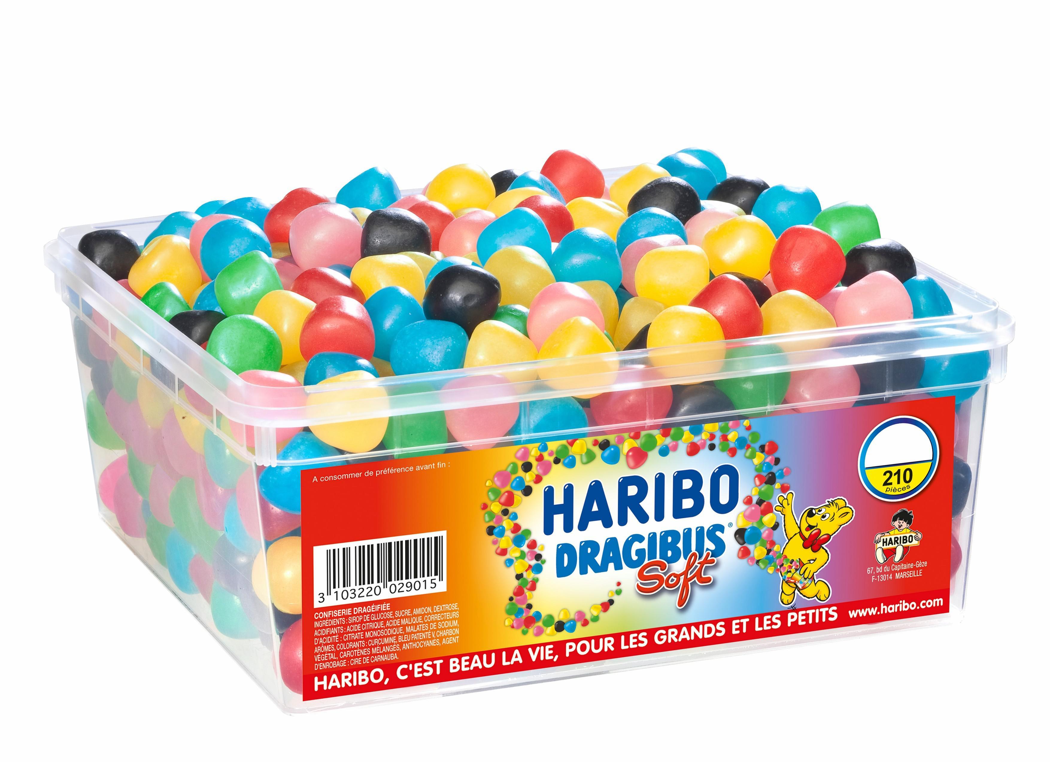 Promotions sur les bonbons Haribo - Ex : Boite de 210 Dragibus Soft