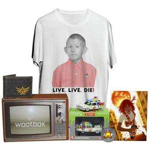 [CDAV] Lot de Goodies : Wootbox Oldschool Janvier 2018 (Portefeuille The Legend of Zelda, T-shirt Doui taille M, figurine Ghostbusters ...)