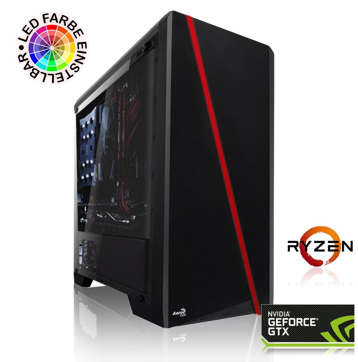 PC Gaming - AMD Ryzen 5 2600X, 16 Go RAM DDR4, GTX 1660 Ti, 240 Go SSD + 2 To HDD, Sans OS