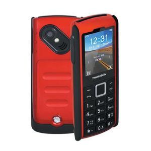 """[CDAV] Téléphone mobile 2"""" Thomson TLink 20S+ - étanche IP67, 1050 mAh, Bluetooth, noir / rouge"""