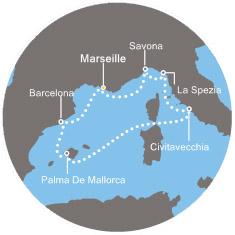 Croisières de 8 jours en Méditerranée sur le Costa Smeralda en cabine intérieure - départs en janvier 2020, pour 2 pers. (BSP-Croisiere.com)