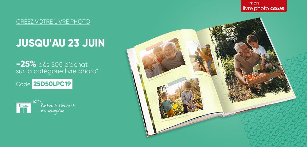 25% de réduction dès 50€ d'achat sur les Livres Photo