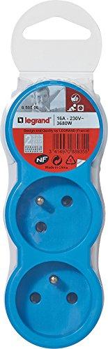 [Panier Plus] Multi-prises Legrand LEG50506 - 3 prises, bleu