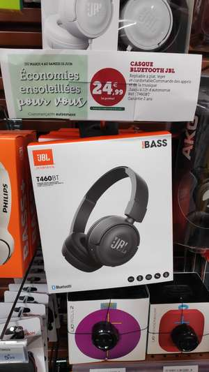Casque audio sans-fil JBL T460BT (Bluetooth, noir) - Champagnole (39)