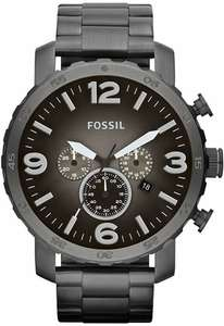 Montre Chronographe Fossil Nate - 50 mm, 5 ATM, Grise