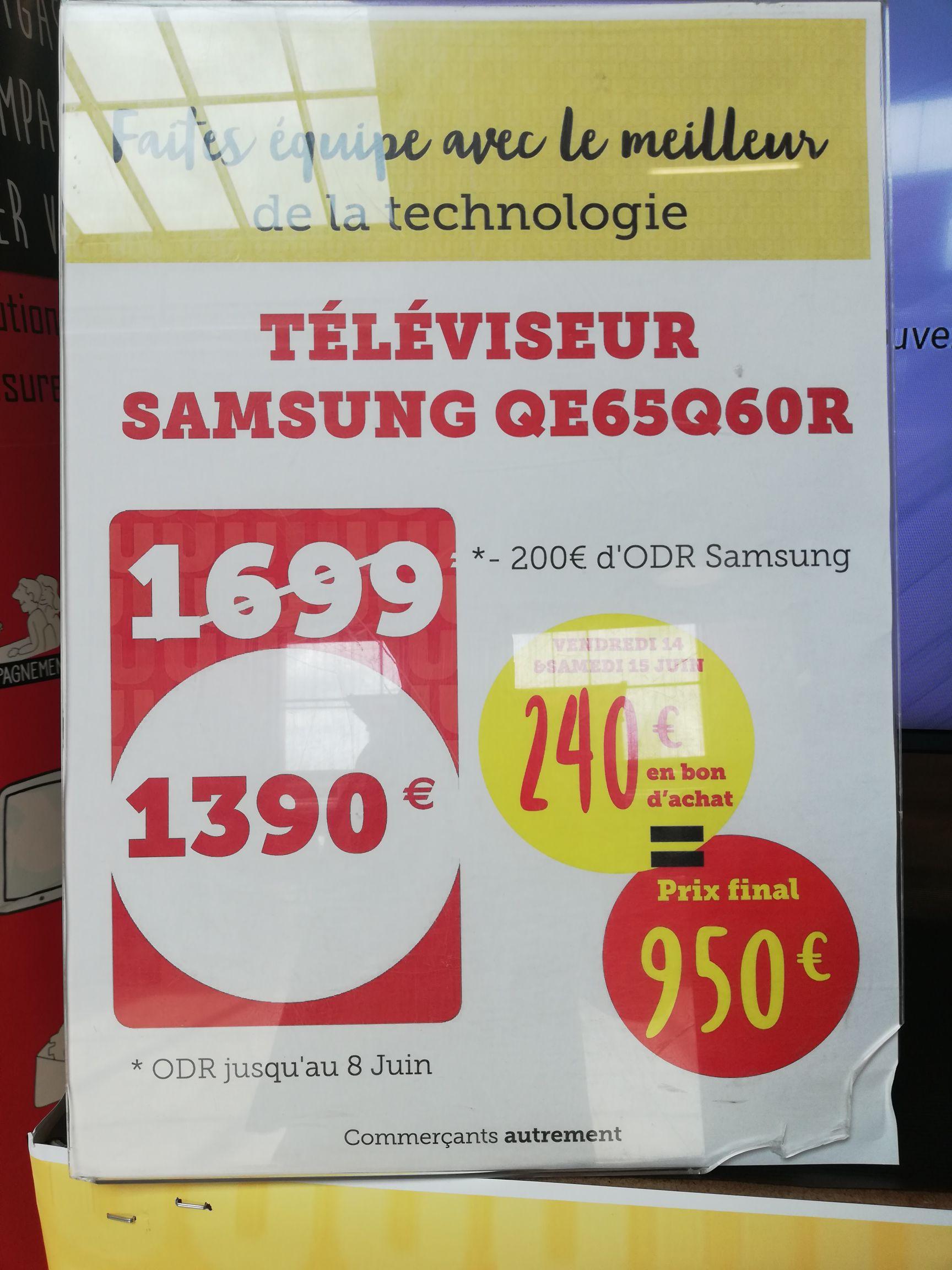 """TV 65"""" Samsung QN65Q60RAFXZA (2019) - UHD 4K, HDR (Châteaugiron 35)"""