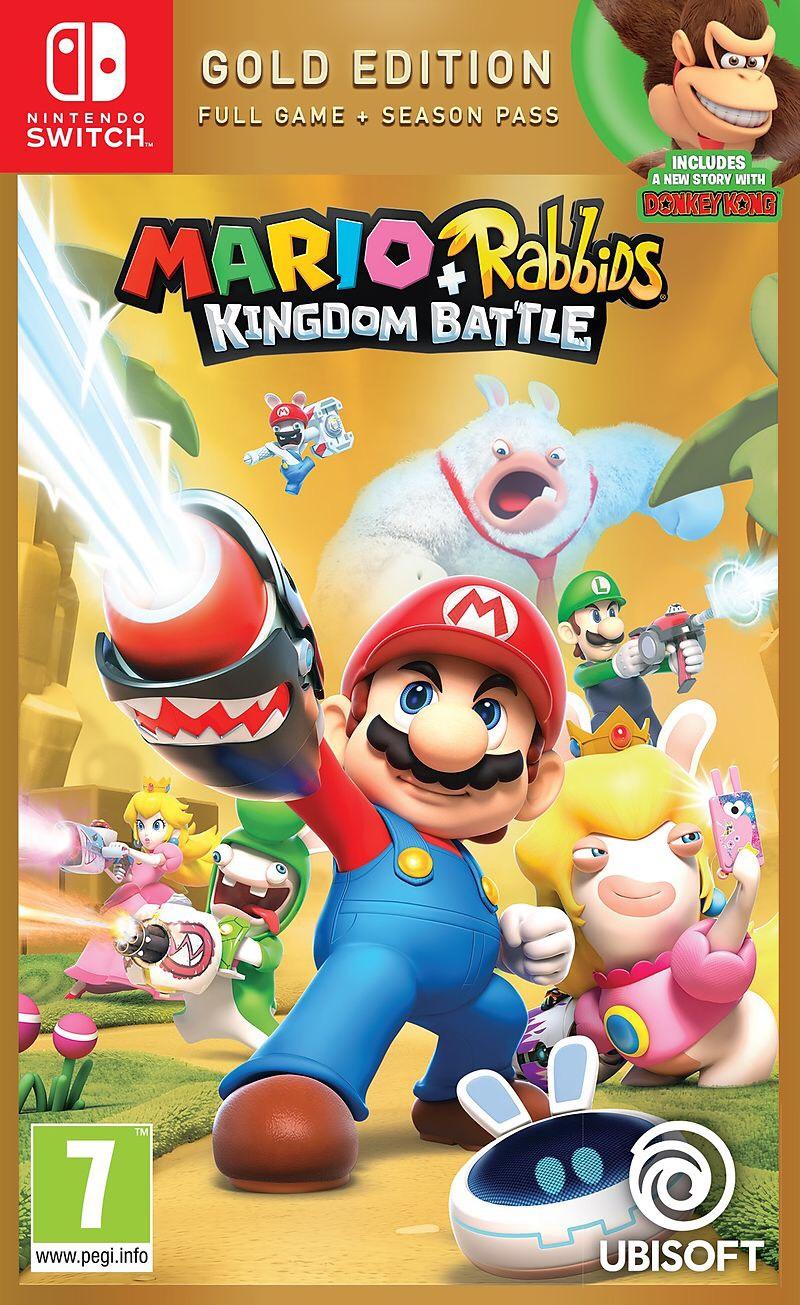 Jeu Mario + The Lapins Crétins Kingdom Battle - Edition Gold pour Nintendo Switch