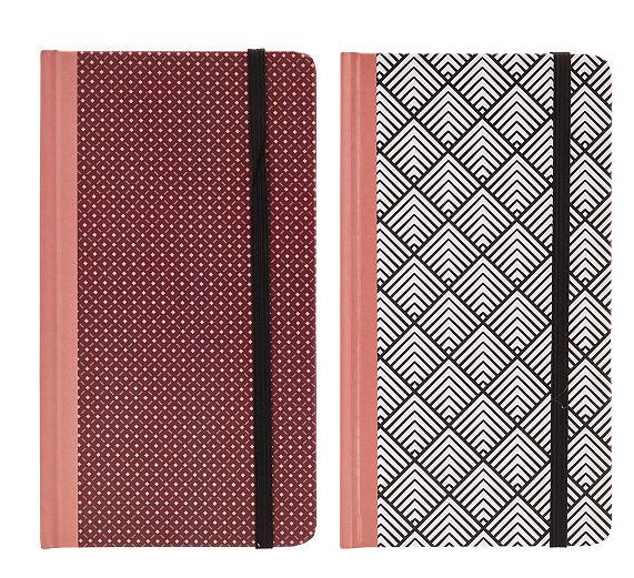 Lot de 2 notebooks papier Ethno