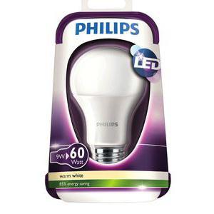 Ampoule Led Philips - 9W=60W E27 (via 10.85€ sur carte)