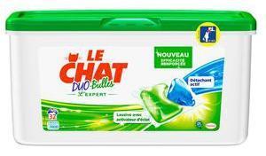 Lessive Le Chat Duo bulles - 32 lavages (via 7.86€ sur la carte + BDR)