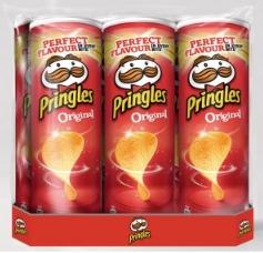 Lot de 6 paquets de chips Pringles - 6x175 g, différents parfums