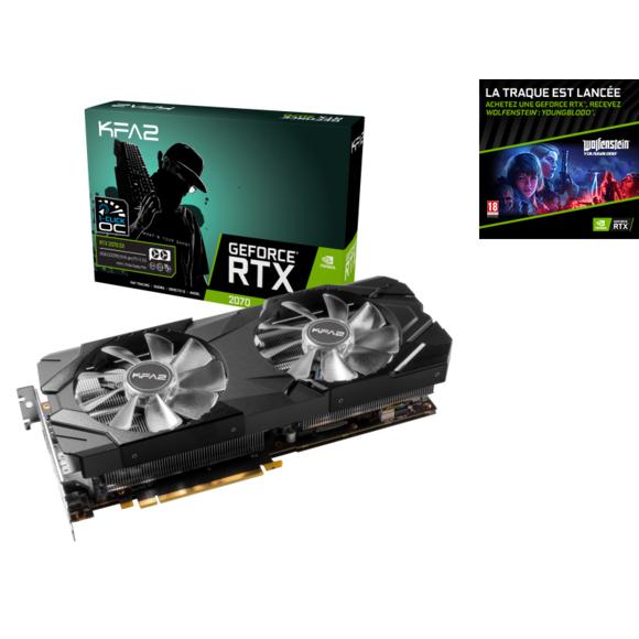 Carte graphique KFA2 GeForce RTX 2070 Ex 1 click OC - 8 Go