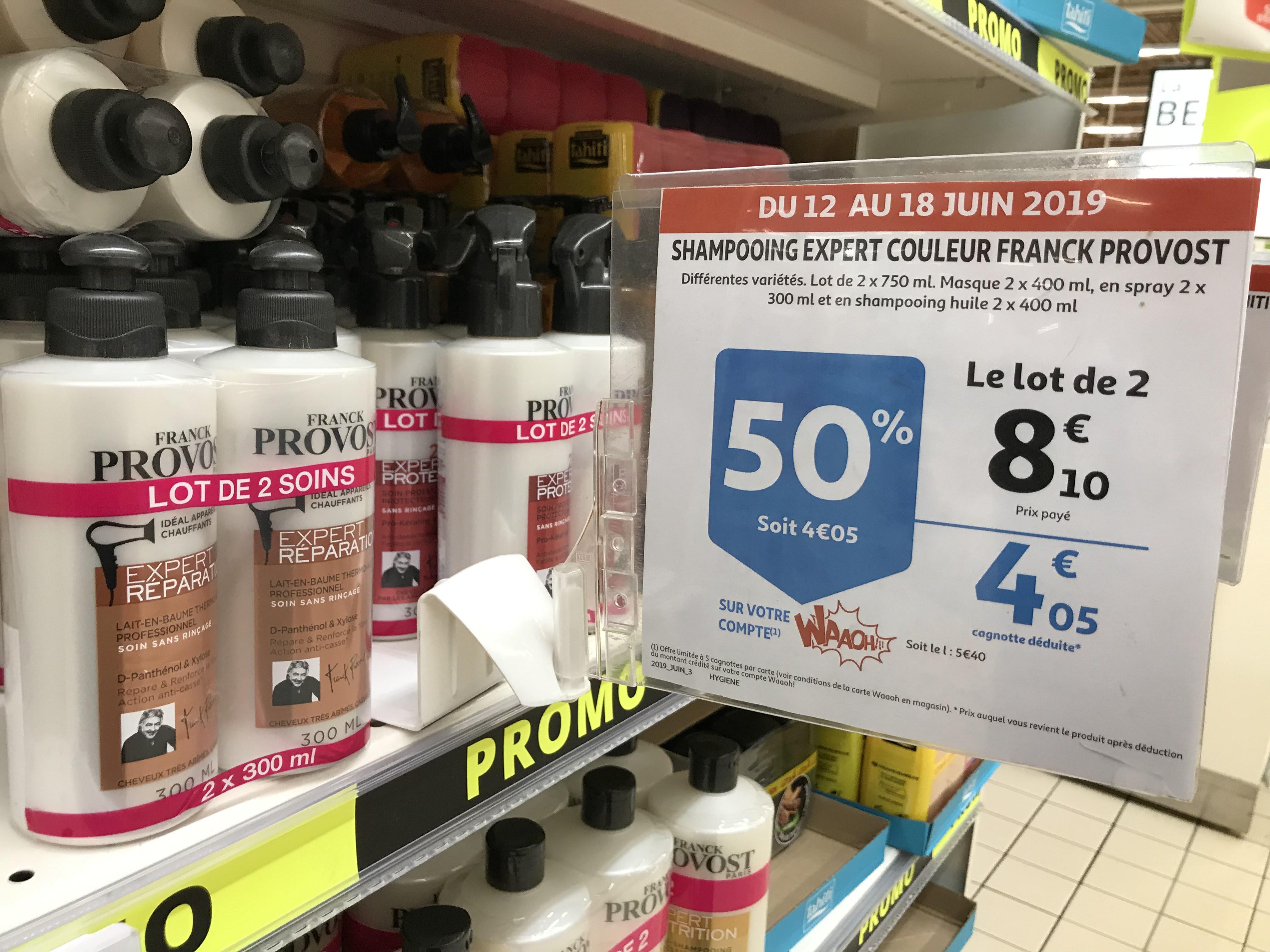Lot de 2 Franck Provost: shampoing expert couleur, soin professionnel - Auchan Lyon (69)