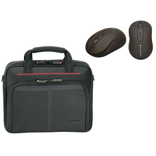 Pack Sacoche Targus pour PC portable 15,4''/16'' + Souris sans fil Bluetrack Milki Chocolate