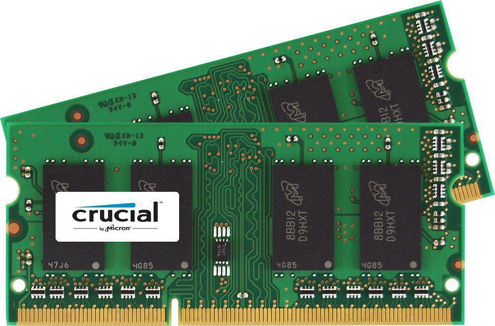 Kit mémoire SoDimm Crucial 8 Go (2 x 4 Go) - CL11, DDR3L, PC-12800, 1600 MHz
