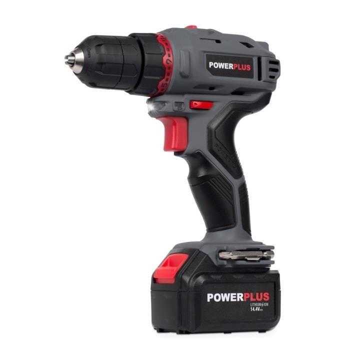 Perceuse visseuse sans fil Powerplus POWE00031 - 14,4 V