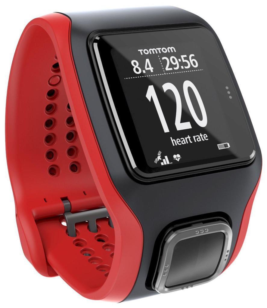 Montre GPS TomTom Multi-Sport Cardio (1RH0.001.01) - Noir/Rouge