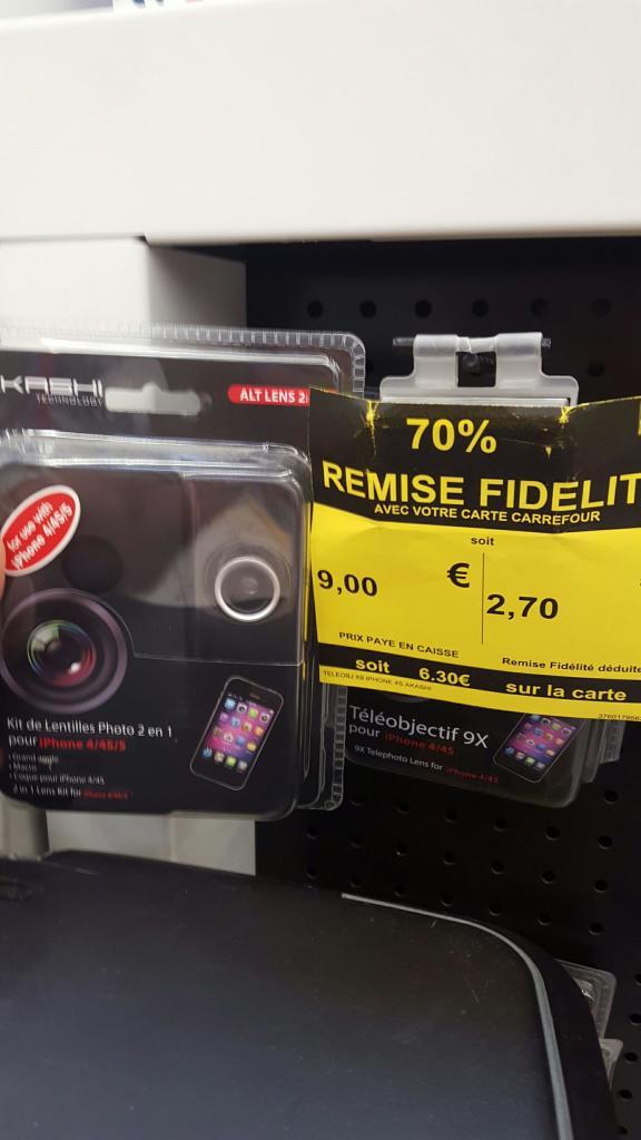 Kit lentilles 2-en-1 Rollei 9x pour iPhone 4/4S/5 (via 7.30€ remise fidélité)