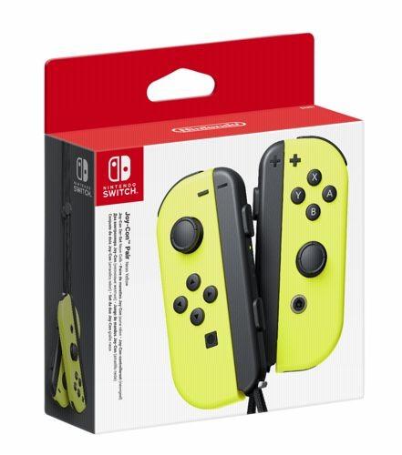 """Paire de manettes Joy-Con """"Jaune Néon"""" pour Nintendo Switch (+6,40€ SuperPoints))"""