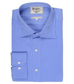 Fin de série Bexley Chemises - Ex : Chemise homme coton coupe ajustée Col italien Giorgio