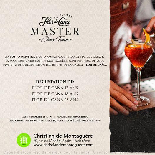 Masterclass rhum Flor De Cana - Entrée libre, dégustions offertes - à Christian de Montaguère (Paris 75006)
