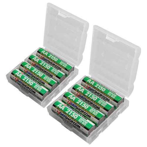 Lot de 8 Piles rechargeables 7dayshop AA HR06 - 2150mAh + Boite de rangement