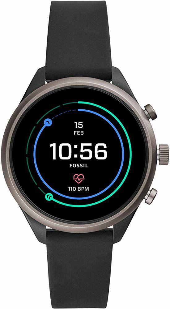 Montre Connectée Fossil Sport - Bluetooth 4.1, 41 mm, Snapdragon Wear 3100, 512 Mo de RAM, 4 Go de stockage, Android Wear, 5 ATM, Noire