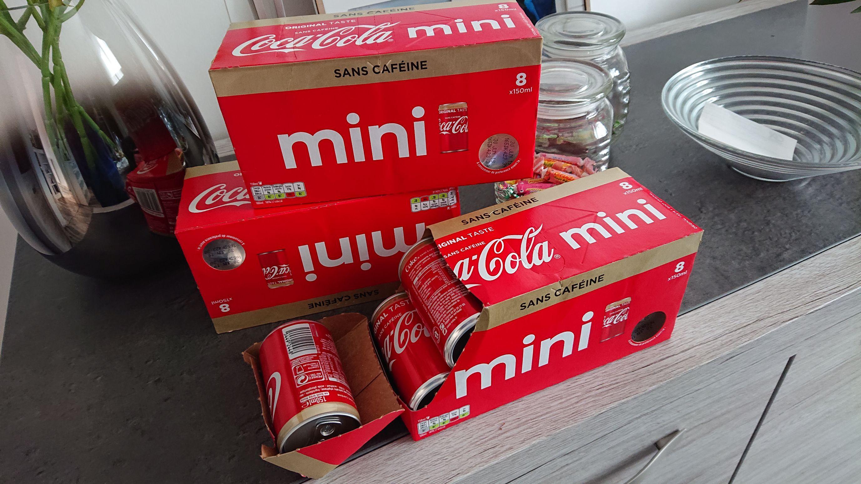 3 Packs de Canettes Coca-Cola Mini sans caféine - 3x8 (Saint-Quentin 02)